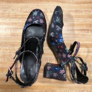 Madden Girl Floral Strappy Heels SZ 8.5